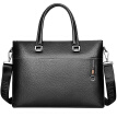 Seven wolves men's briefcase business men's first layer cowhide men's handbag shoulder messenger bag laptop bag 1A4974155-01 black