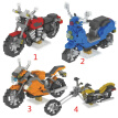 Motorcycle Series Granule Diamonds Building Blocks Miniature Assembling Plastic Puzzle Building Blocks Toys