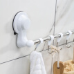 Stainless Steel Wall-suction Six Hooks Towel Rack for Bathroom Kitchen