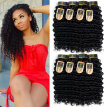 YAVIDA Hair Malaysian Curly Virgin Hair Extension 4 Bundles Malaysian Deep Wave Virgin Hair Tangle-Free Curly Weave Human Hair Bun