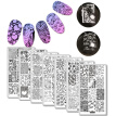 Love Celebrate Theme Rectangle 7Pc Nail Art Stamp Template Set Leaf Panda Football Style Stamp Image Plate DIY Manicure Template
