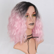 "AISI HAIR Synthetic Ombre Red Blue Pink Wig for Black Women's 14""Long Water Wave False Hair"