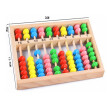 New Wooden Baby Toy Small Size Montessori Baby Toy Beech Abacus Teaching Learning Educational Preschool Training