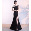 One-Shoulder Bridal Toast Dress Korean Fashion Long Sexy Fishtail Evening Dress