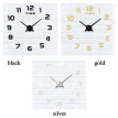 large digital wall clock 3D kitchen living room wall clocks DIY modern design large decorative wall clocks for home