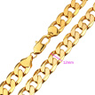 Massive Men Necklace Real 18K Yellow Gold Plated Large Curb Link Cuban Chain Hip Hop Bling bling Good Quality Necklaces