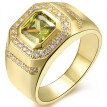 1.8ct Size 8 To 15 Jewelry Sapphire/Garnet 10KT Man's Gold Plated Ring Wedding Gift