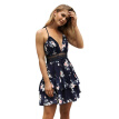 Try Everything Beach Dress Tunic Spaghetti Strap Sexy Backless Summer Dresses Women 2018 Floral Ruffle Ladies Deep V Neck Dress