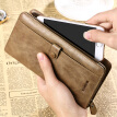 Dede DiDe wallet men's handbags first layer cowhide retro long wallet fashion multi-card card package DQ713 khaki
