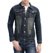 Zogaa New Men's Jacket Jeans Wear Washing