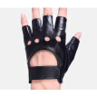 Svadilfari New 2018 Wholesale 1 Pair Fashion Genuine Leather Half Finger Driving Gloves Fingerless Gloves For men Black