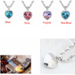 Heart Necklaces Pendants Crystal from Austrian Elements Vintage Fashion Jewelry Necklaces For Women 10800