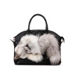 New women PU leather high quality genuine fox fur bag for women famous brand handbags bags ladies shoulder bag tote bags