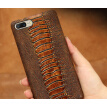 Genuine Leather Phone Case For Oneplus 5 Case Ostrich Foot Texture Back Cover For 3T 5T Case