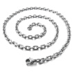 Hpolw Mens Womens Celtic Knot Stainless Steel Pendant Necklace, Black Silver, 18-26 inch Chain