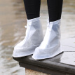 Many beautiful recall thick wear-resistant unisex rain boots waterproof rain boots rainy days slip waterproof shoes white XXXL code