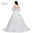 Wedding Dress 2018 Robe De Mariage White/Ivory Backless Lace A-Line Court Train Satin Cheap Wedding Dresses Vestido De Casamento