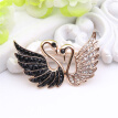 Fashion Women Lovers Swan Brooch Romantic Jewelry Swan Lake Rhinestone Brooches Broches Couple Badges Ladies Lapel Animal Pins