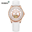 Luxury ROSDN Brand Ladies Watch Pearl Dial Leather Strap Automatic Mechanical Watch Women Clock Waterproof Fashionable Watch