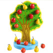 New Wooden Baby Toy Magnetic simulation Fruit tree Apple and Pear Baby Toy