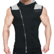 MECH-ENG Men's  Hoodies Sweatshirt Sleeveless  Workout Gym Vest  Bodybuilding Muscle  Casual Tank  Top 7334