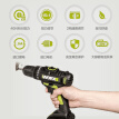 Wick (WORX) multi-function rechargeable hand drill double battery WU172 electric screwdriver electric screwdriver hardware decoration professional power tools