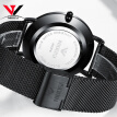 NIBOSI Men Blue Watch Ultra thin Fashion Male Wristwatch Mesh Watchband Business Watches Waterproof Black Clock Relogios Quartzo