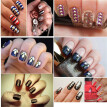 Rivet Nail Art Punk Rivet Design Nails Beauty Sticker Tip Decal Manicure Metallic Gold Studs Nail Tips Jewelry Decoration DIY