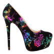 Fashion high heel pump waterproof women's shoes 14.5cm heel party shoes for woman plus size