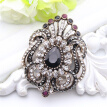 Fashion Women Jewelry Turkish Brooch Blue Crystal Rhinestone Peacock Broches Brooches Ladies Scarf hijab Pins Best Royal Gift