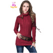 M High Quality chest 72-88cm cashmere vintage new winter 2017 women sweater and pullover long sleeve turtleneck black red female