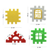 Baby Children Initiation Benefit Assembling House Building Blocks Block Plastic Pincha Assemble Architecture Yakata Toys