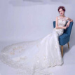 New Illusion Bodice Sheer Straps Backless  Embroidery Lace Mermaid Fishtail Wedding Dress All Can Be Allowed