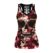 2018 Skull Womens Tank Tops Fashion Print Mujeres 3D Chaleco Top Camisole Tank Women's