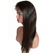 Osolovely Hair Silk Base Full Lace Wigs Straight Human Hair For Black Women Natural Color 10-24 Inch