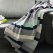 Cotton pad cotton blanket was blanket line blanket blanket cotton knit blanket office nap napping sofa cushion red and blue stripes 127 * 153cm