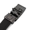 J.Bento first layer cowhide folding men's belt square drawing automatic buckle belt business casual belt B17215114411 black
