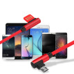Mzxtby Dual Sided-Micro USB Data Cable Portable 90 Degree Right-angled 2.4A USB Cable Fast Charger L Bending for Samsung/xiaomi/LG