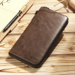 Dede DiDe men's wallet men's first layer leather long retro wallet multi-function card package large capacity clutch DQ700 dark brown
