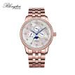 RlongTou watch men's elegant series 103M-T-C rose gold shell steel belt Diamond insert