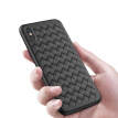 Vale Iphonex Mobile Shell Apple X/10 Braid High-End Cover All-Inclusive Shatter-Resistant Scrub Soft Shell 5.8 Inch Black