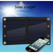 7W Outdoor Waterproof high efficiency Foldable Solar Charger Power 20000MA Portable  mobile phones LED light Power Bank USBCharger