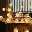 2.5m 20 LEDs Rattan Ball Fairy String Lights