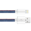 Snowkids MFi certified Apple 6 / 5s data cable phone charger line power cord support iphone5 / 6s / 7 Plus / 7 / SE / ipad air 1.5 m denim blue
