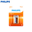Philips (PHILIPS) 9V carbon battery 1 capsule 9 volt 6F22 square for remote control / toy / wireless microphone / alarm / multimeter, etc.