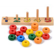 New Wooden Toy Baby Toy Montessori Counting Disks Stacking Sorting Board Building Early Childhood Education Preschool Kids Gifts