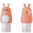 40,000 km cartoon travel silicone suction cup sub-bottle washing cosmetic shampoo shower gel small empty bottle portable sub-bottle bottle SW2109 pink rabbit 50ML
