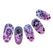1Pc Halloween Series Celebration Nail Stamping Plate Cute Skull Pattern DIY Nail Art Image Stamp Stamper Manicure Template C17