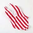 MisShow Vintage High Waist Red Striped One Piece Swimsuit Push Up Swimwear Lengthen the Body Classical Women Swimwear For Girl