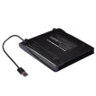 9.5mm ODD HDD External Optical Disk Drive Case Box USB 3.0 SATA High Speed ​​for Macbook Windows PC Laptop Black